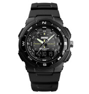 Men's Electronic Double Display Rubber Watch
