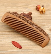 Carving series peach wood comb