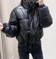 Faux leather cotton jacket