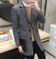 Men's woolen trench coat