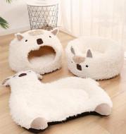 Alpaca Pet Bed Warm Plush Cat Dog Bed