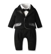 Boy baby long-sleeved gentleman tuxedo two-piece suit