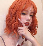 Air bangs chemical fiber wig headgear