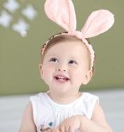 Baby headband cotton cute rabbit headband