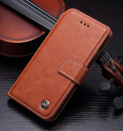 Flip phone leather case wallet