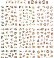 Download main imagesDownload description images11 paquets/LOT NAIL ART 3D SIMULATION dos adhésif ongle autocollant dieu père ange bébé ROSE fleur E765-775