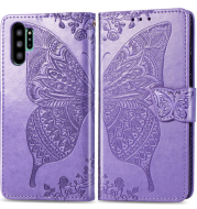 Flower Butterfly Embossed Leather Case