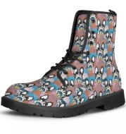 Personalize Printed Martin Ankle Boots Comfy Lace-up Work StyleComfy Lace-up Work Style
