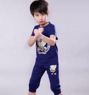 Boys Summer Siro Suit Uub Galaxy Children's Cotton Ultraman Clothes