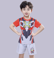 Boys' Cotton Home Short-Sleeved Pajamas Suit