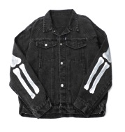 Ins Street Fashion Brand Wild Skull Frame Print Jacket