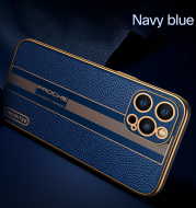 All-Inclusive Lens Silicone High-Grade Leather Phone Case