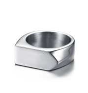 Stainless Steel Men's Ring Can Be Engraved