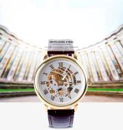 Hollow Mechanical Watch Simple Business Men's Watch