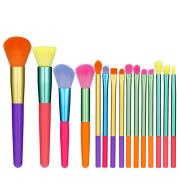 Makeup Brush Set 15pcs Multicolor Colourful Makeup Brushes