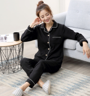 Long Sleeve Thin Cotton Pajamas That Can Be Worn Outside