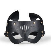 Femdom Black Leather Dog Slave Catwoman Fox Blindfold