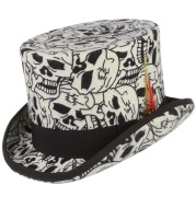 High Tube Flat Top Presidential Hat Gentleman Hat Magic Hat