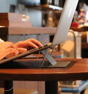 Portable Adjustable Laptop Stand Convenient Folding Laptop Pad Bracket Adhesive Function Tablet Holder