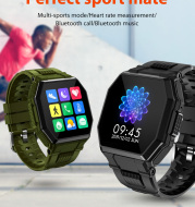 Bluetooth Call Smart Watch Men Full Touch Music Control Sports Fitness Tracker Smartwatch Blood Pressure Heart Rate