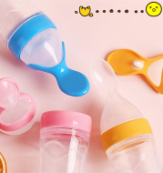 Silicone Training Rice Spoon, Infant Cereal Food Supplement, Safe Feeder