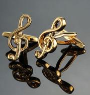 Brass Music Series Musical Instrument Note Cufflinks
