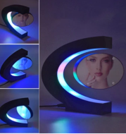 Electronic Magnetic Floating LED 3D Photo Frame Night Light