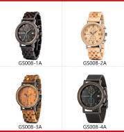 Wooden Watch GS008 Youth Leisure Business Quartz Movement Anti-wood Water Watch