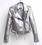 Punk style leather motorcycle leather