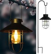Solar Outdoor Hanging Lights Waterproof Courtyard Lantern