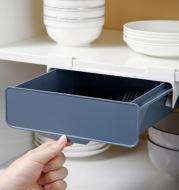 Kitchen Cabinet Divider Shelf Drawer Organizer Utensil Holder Under Desk Hanging Storage Box Fork Spoon Tray Kitchen Storage Box