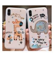 Shatter-resistant Cartoon Giraffe Cute Elephant Phone Case