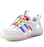 Children's Cotton LED Colorful Light Rechargeable Shoes