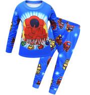 Spring and Autumn Big Kids Homewear Suit Boy Two-piece Set