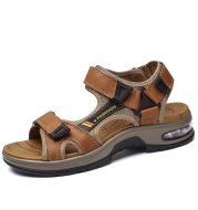 Men's Sandals Casual Shoes Outdoor Leather Beach Shoes Men's Cushion Soft Sole