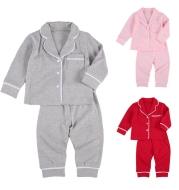 Cotton Two Piece Pajama Sets Toddler Kids Baby Girl Boy
