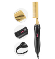 Electric Curling Comb Household Curling Stick Wet and Dry Copper Comb