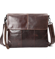 The First Layer Of Oil Wax Leather One Shoulder Men's Diagonal Bag