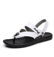 Men's Leather Fashion Sandal Fashion Men's Flip-flop Beach Shoes Men's Slippers