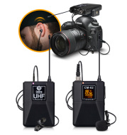 Wireless Microphone With Monitor Lavalier Camera Radio Microphone SLR Interview Recording