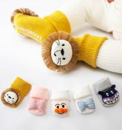 Cotton Baby Socks Girls Boys Rubber Anti Slip Floor Cartoon Kids Toddlers