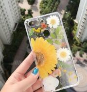 Anti-Drop Soft Sunflower Real Flower Phone Case