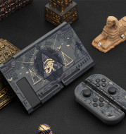 Mysterious Egypt Switch Protective Shell Black Hard Cover Back Grip Controller Split Housing Case
