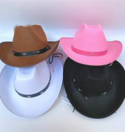Western Five Nail Cowboy Hat One-time Forming Big Edge Children's Polyester Felt Hat