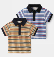 Casual Style Children's Lapel Short Sleeve Top