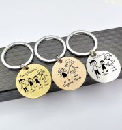 Customized Family Stainless Steel Key Ring