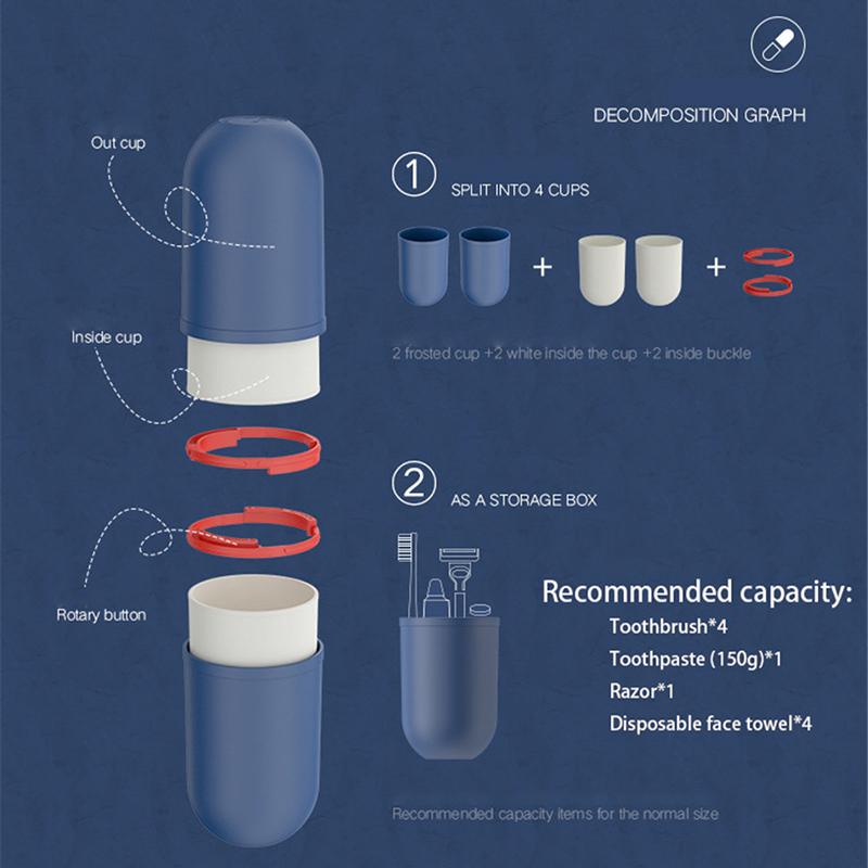 Multifunctional Capsule Shape Colored Travel Bottle