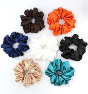 Bright Color Satin Cloth Circle Large Intestine Circle Headdress