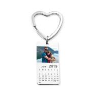 Personalized Custom Special Date Calendar Keychain