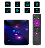 K10 Tv Set-Top Box S905x3 Android 9.0 4g+128gb Network Playe